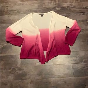United States Sweaters large ombré pink cardigan